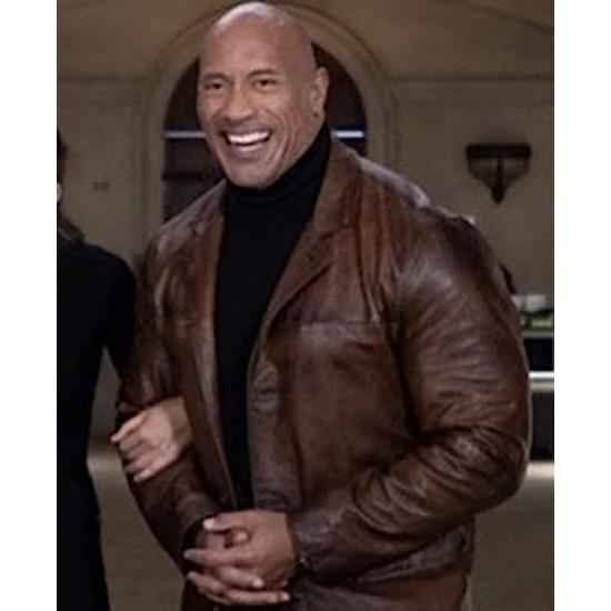 Dwayne Johnson Red Notice Distressed Coat