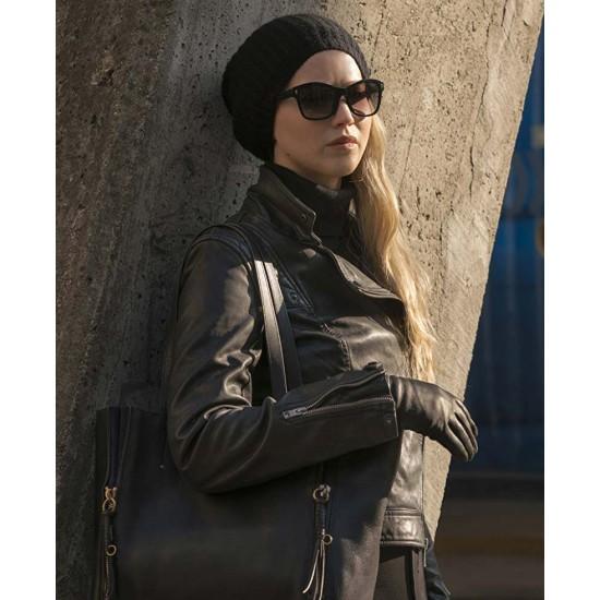 Dominika Egorova Red Sparrow Brown Leather Jacket
