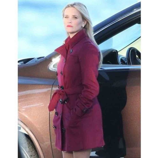 Big Little Lies Reese Witherspoon Mid-Length Coat
