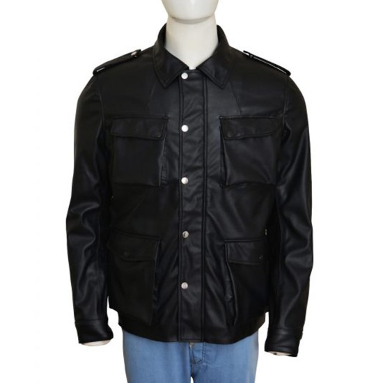 Bobby Cannavale Vinyl Black Leather Jacket