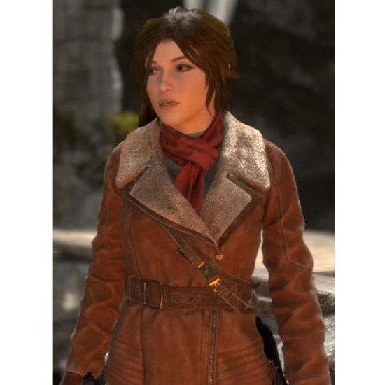 Rise of The Tomb Raider Brown Leather Jacket
