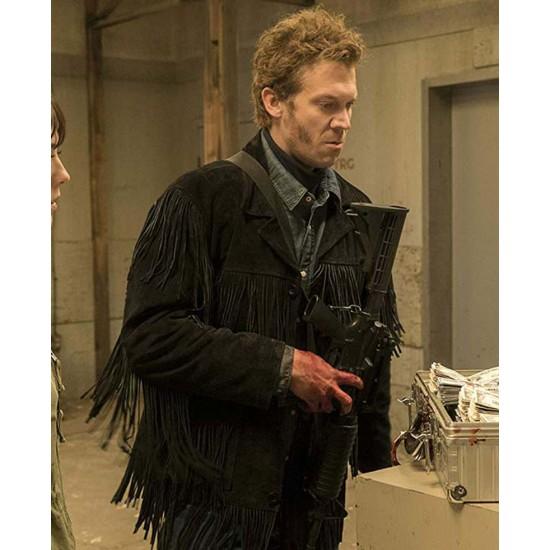 Fargo Russell Harvard Black Suede Leather Jacket