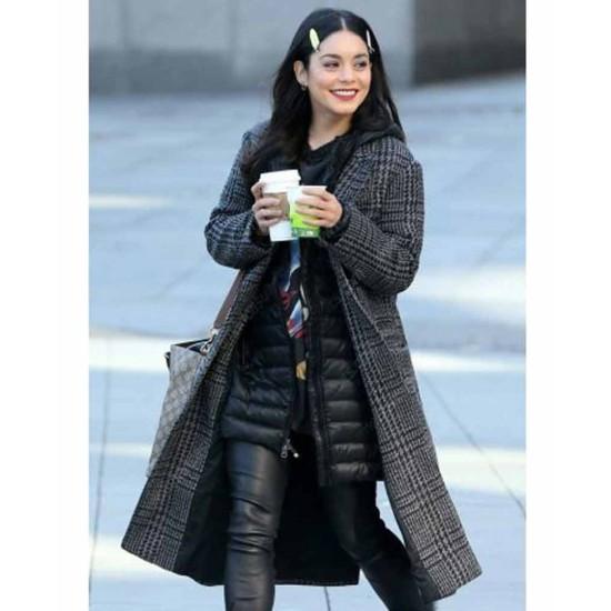 Vanessa Hudgens Second Act Grey and Black Coat