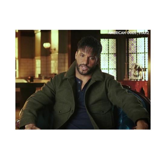 American Gods S03 Ricky Whittle Green Jacket