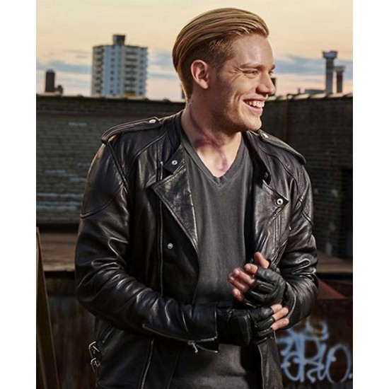 Shadowhunters S03 Dominic Sherwood Leather Jacket
