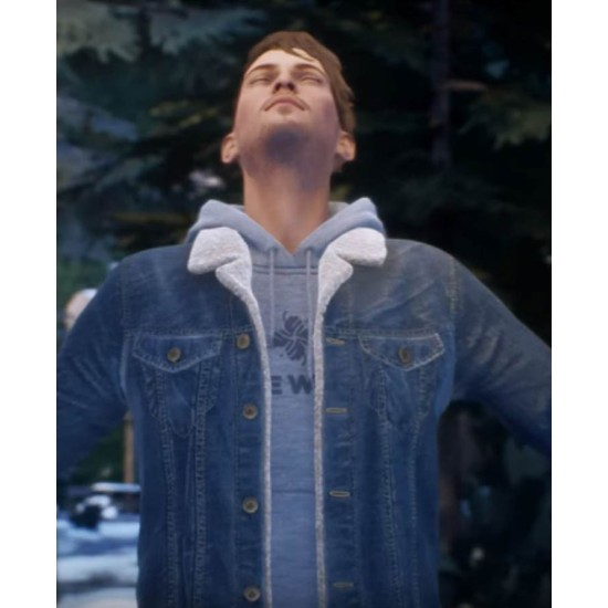 Tell Me Why Tyler Ronan Blue Shearling Jacket