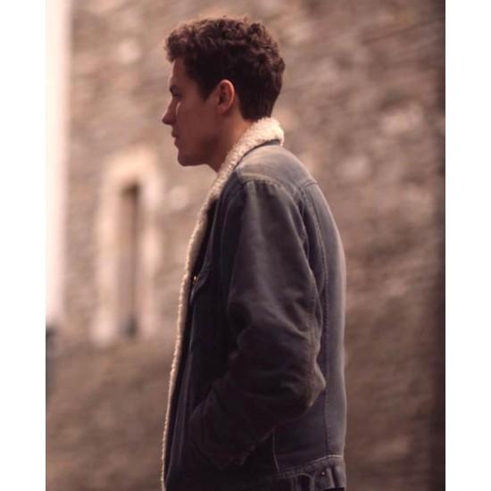 Derry Girls Dylan Llewellyn Denim Shearling Jacket