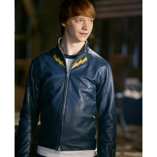 Smallville TV Series Garth Ranzz Blue Leather Jacket