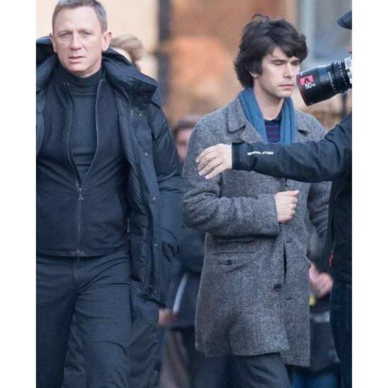 Ben Whishaw Spectre Grey Coat