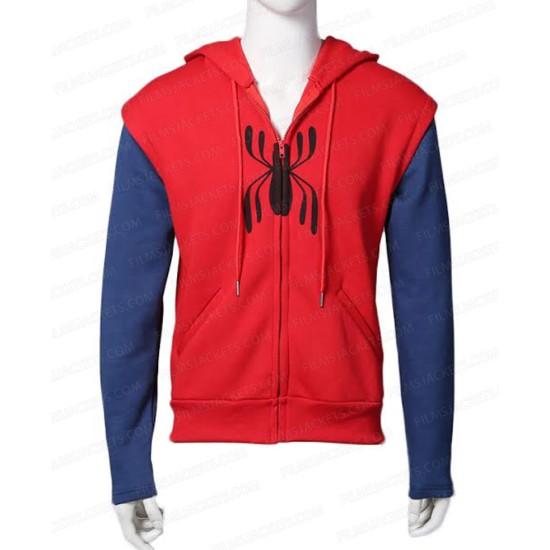 Spiderman Homecoming Red Hoodie with Sleeves