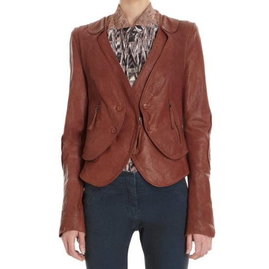 Castle Season 6 Kate's Brown Leather Jacket