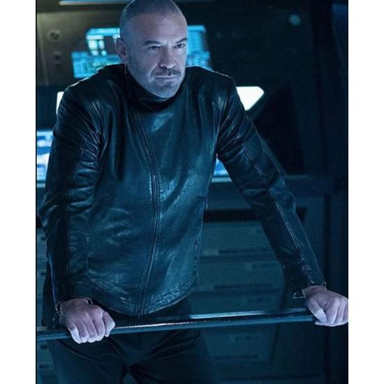 Alan Van Sprang Star Trek Discovery Black Leather Jacket