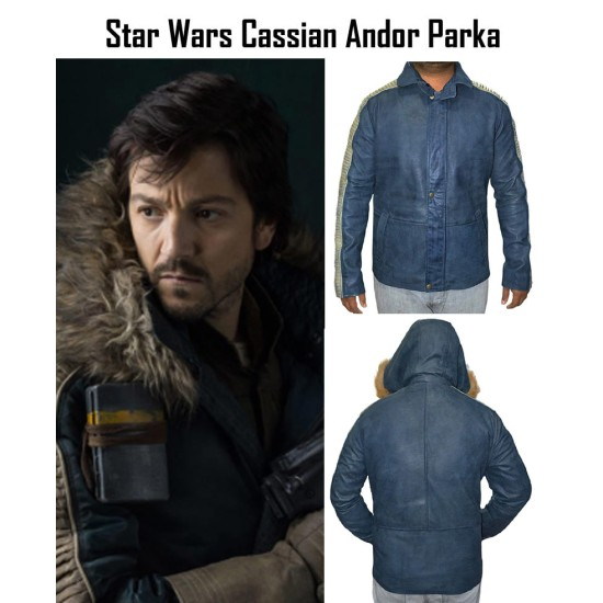 Star Wars Rogue One Captain Cassian Andor Parka Hoodie