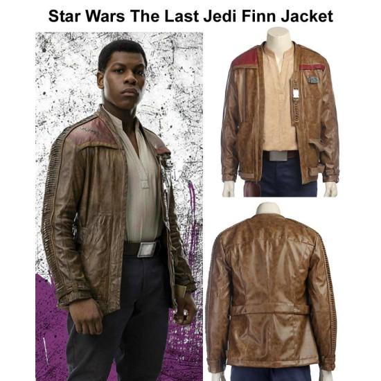 Star Wars The Last Jedi Finn Leather Jacket