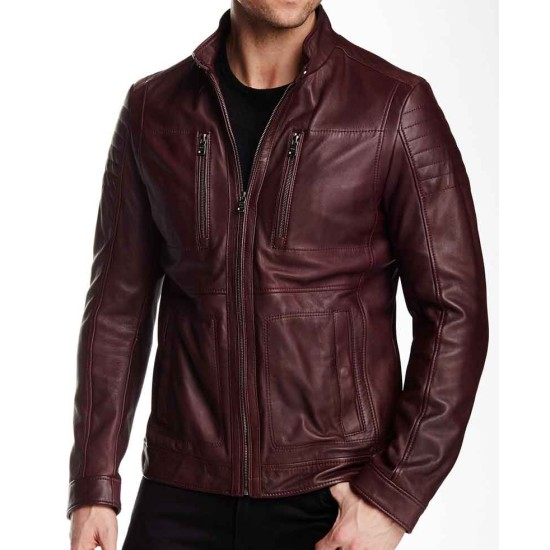 Stephen Amell The Flash Burgundy Leather Jacket