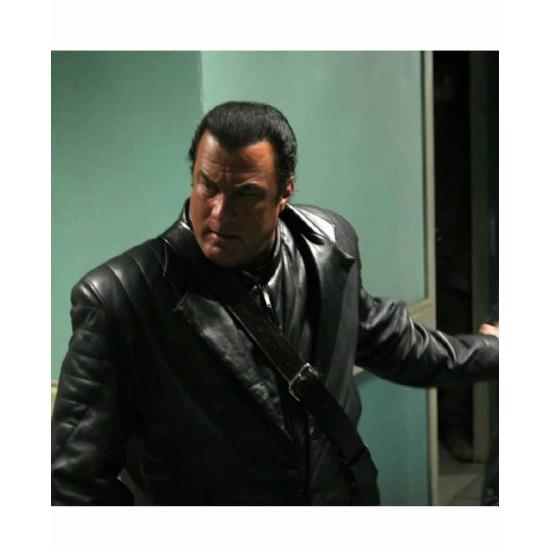 Against The Dark Steven Seagal Leather Coat