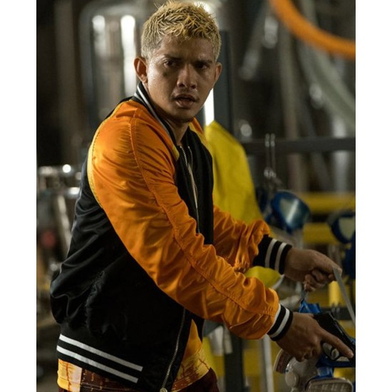 Stuber Iko Uwais Yellow and Black Jacket