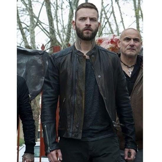 Alessandro Borghi Suburra S03 Brown Leather Jacket