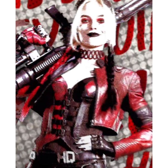 Harley Quinn Kill The Justice League Cropped Maroon Jacket