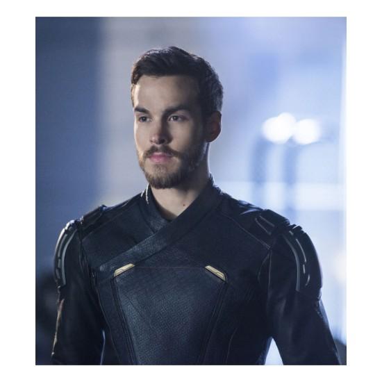 Chris Wood Supergirl Black Leather Jacket
