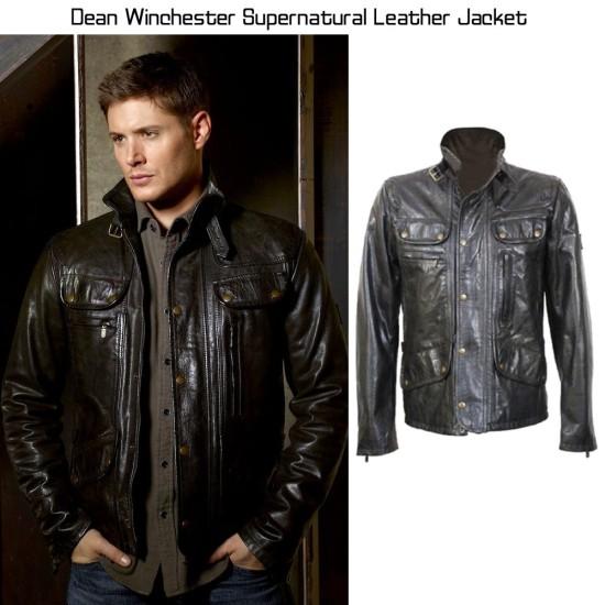 Dean Winchester Supernatural Black Leather Jacket