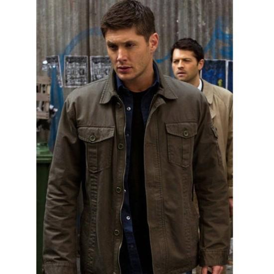 Dean Winchester Supernatural Jensen Ackles Green Jacket