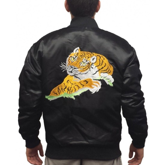 Sylvester Stallone Rocky Tiger Satin Jacket