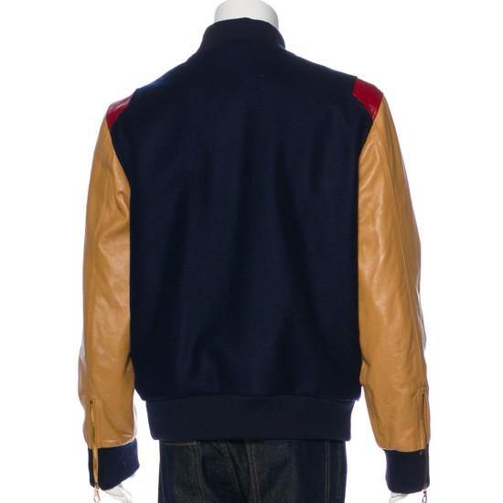 Tackma Bomber Blue and Brown Jacket