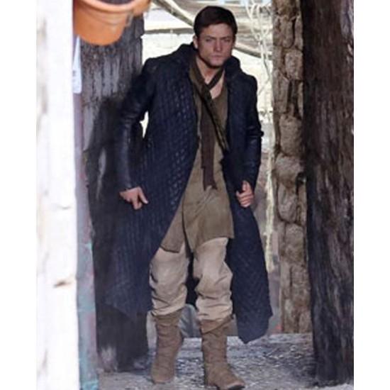 Taron Egerton Robin Hood Trench Leather Coat
