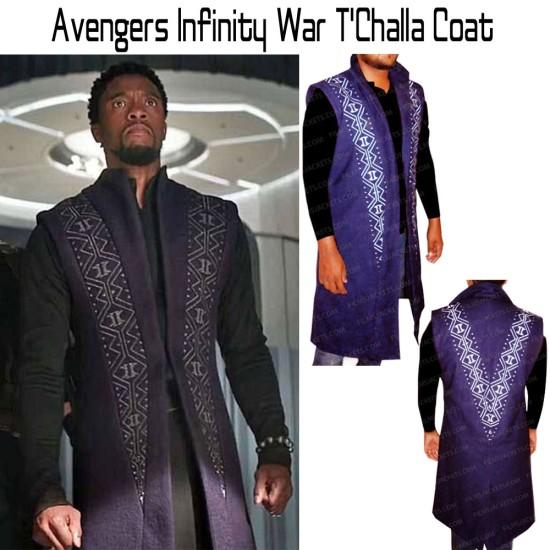 Avengers Infinity War T'Challa Coat