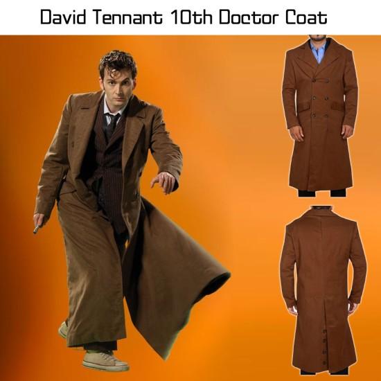 10th Doctor David Tennant Trench Coat