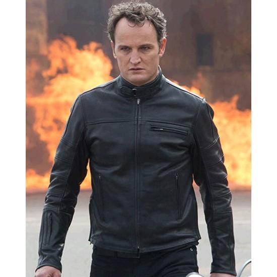 Terminator Genisys Jason Clarke Black Leather Jacket