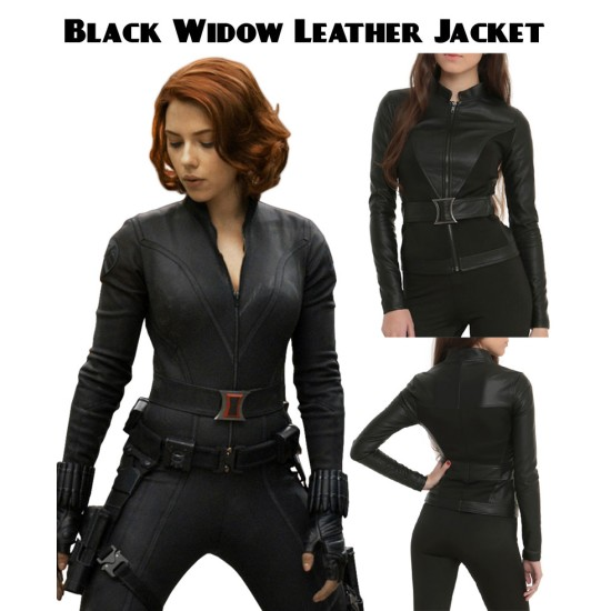 The Avengers Black Widow Leather Jacket