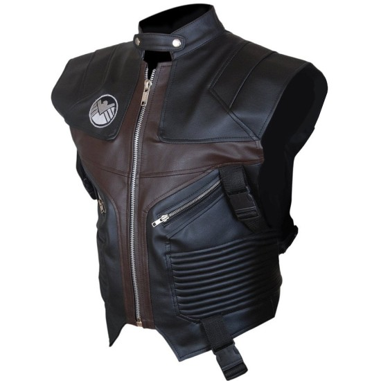 Jeremy Renner The Avengers Hawkeye Leather Vest