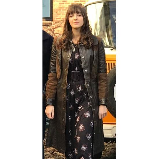 Ella Hunt Kat and The Band Leather Coat