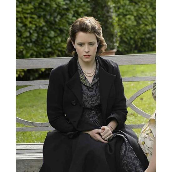 Claire Foy The Crown Season 04 Black Coat