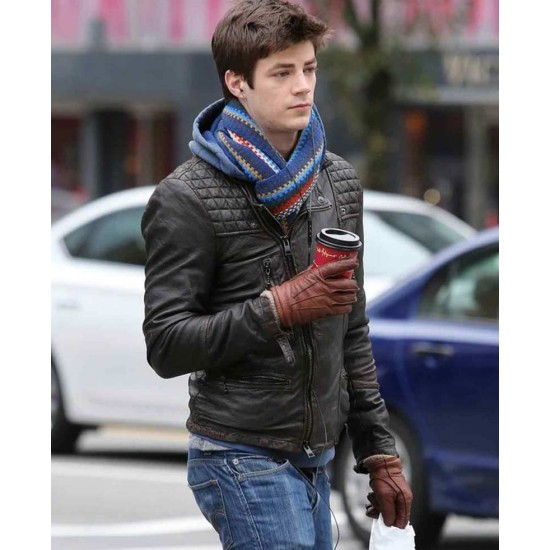 Barry Allen The Flash Grant Gustin Leather Jacket