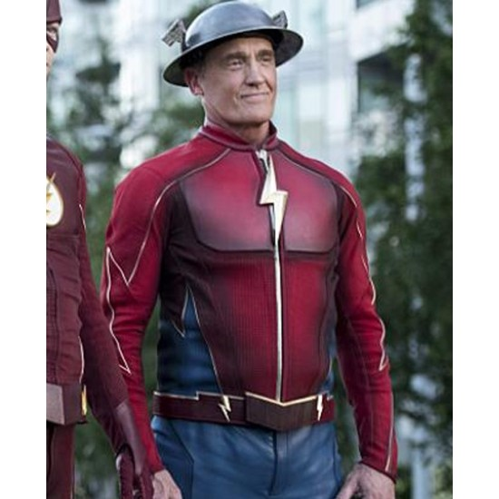 John Wesley Shipp The Flash Jay Garrick Leather Jacket