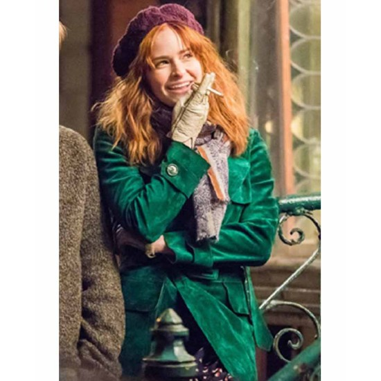 Ashleigh Cummings The Goldfinch Green Coat