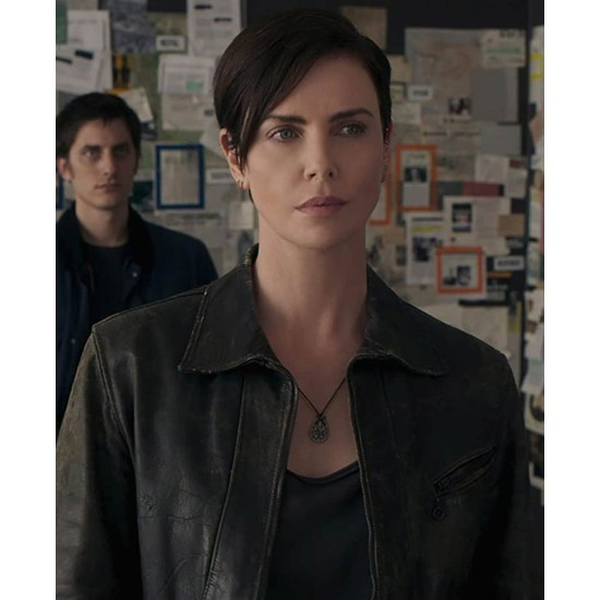Charlize Theron The Old Guard Leather Jacket
