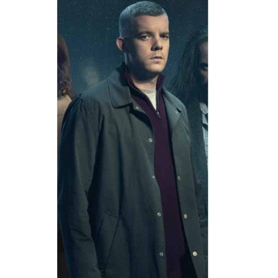 The Sister Russell Tovey Black Cotton Coat