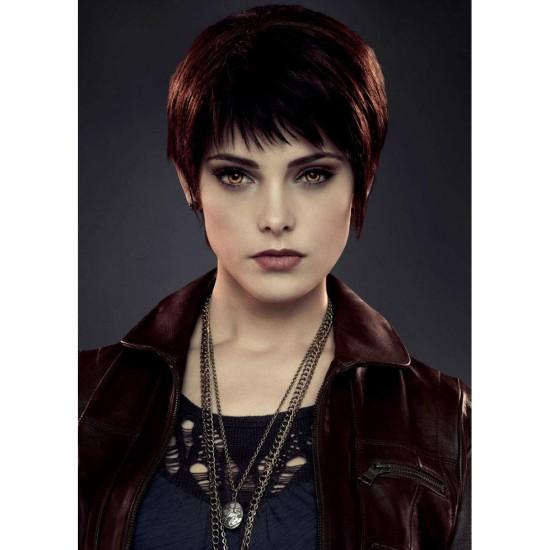 The Twilight Saga Alice Cullen Brown Leather Jacket