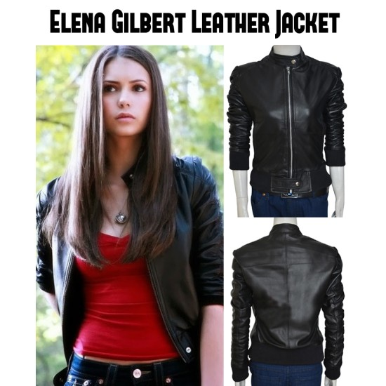 The Vampire Diaries Elena Gilbert Leather Jacket