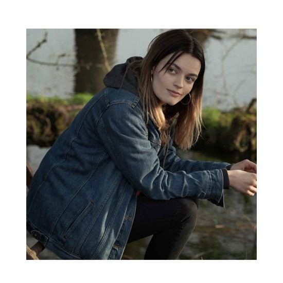 Emma Mackey The Winter Lake Denim Jacket