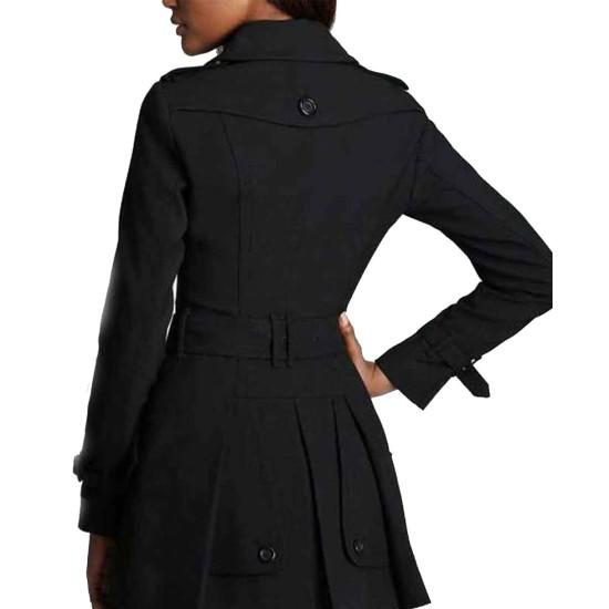 Gillian Anderson The X-Files Season 11 Black Coat