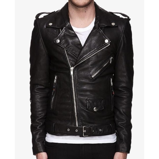 Biker Style Thirty Seconds To Mars Jared Leto Leather Jacket