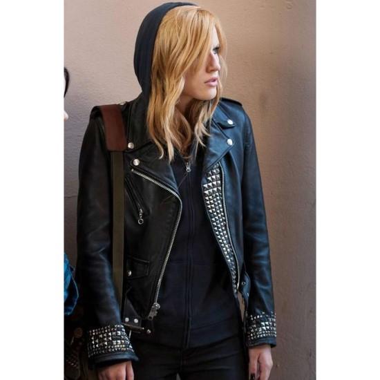 Amityville Bella Thorne Black Leather Jacket