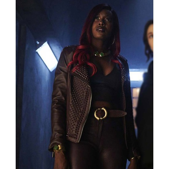 Anna Diop Titans Leather Jacket