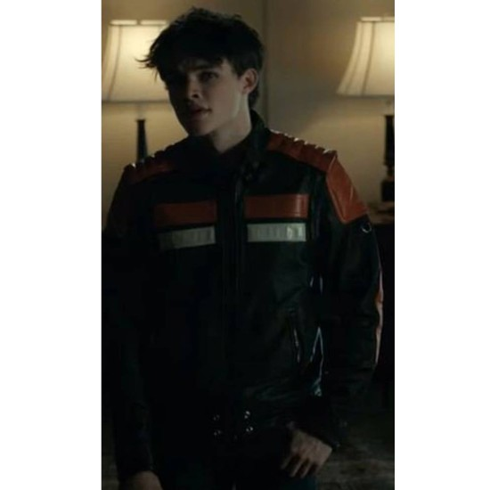 Curran Walters Titans S02 Cafe Racer Leather Jacket