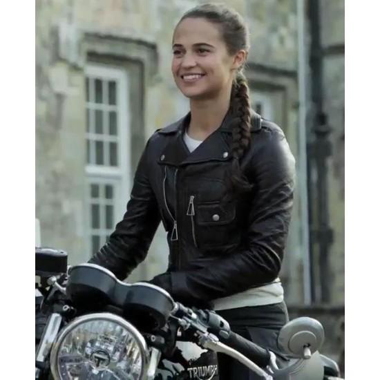 Alicia Vikander Tomb Raider Leather Jacket